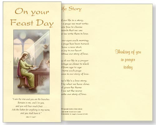 St cecilia feast day card watermead online shop st cecilia feast day card m4hsunfo