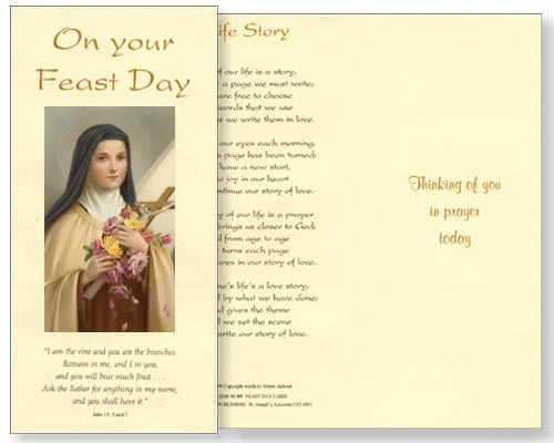 St theresa feast day card watermead online shop st theresa feast day card m4hsunfo