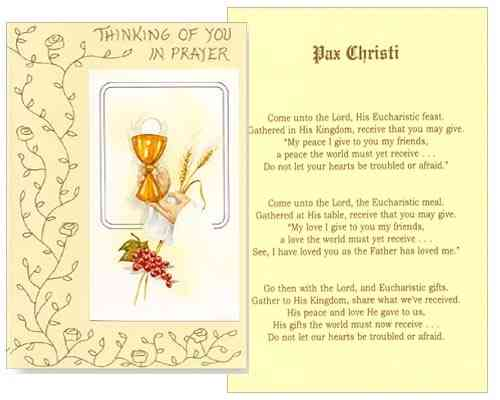 Mass Card - Pax Christi