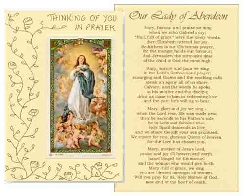 Mass Card - Our Lady of Aberdeen