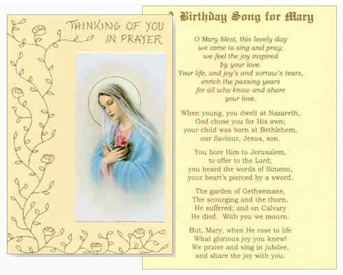 Mass Card - Birthday Song for Mary
