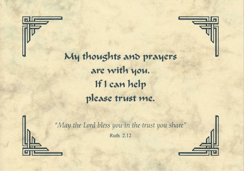 Thought of you Card - Trust Me