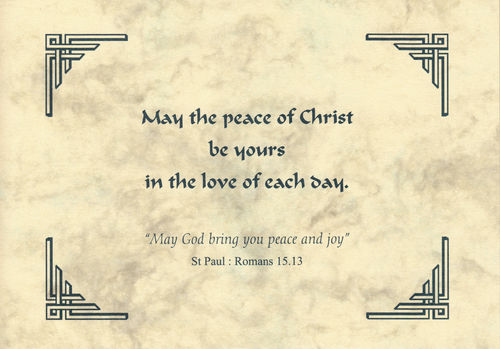 Thought of You Card - Peace of Christ