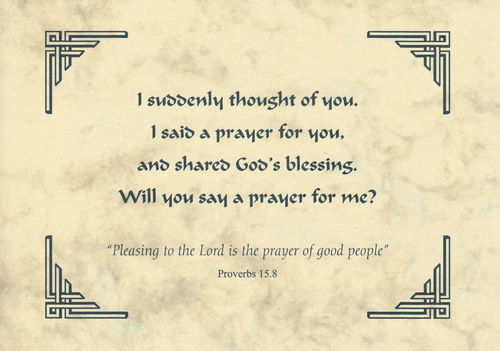 Thought of You Card - Prayed for You