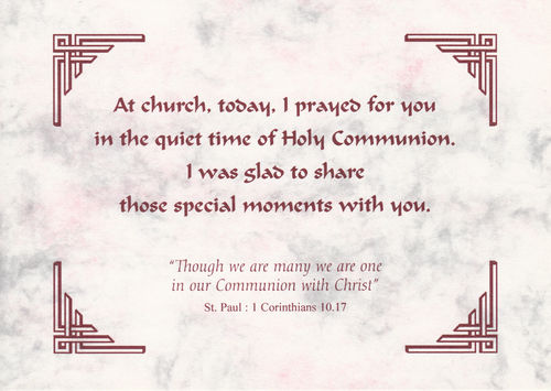 Thought of You Card - Communion Prayer