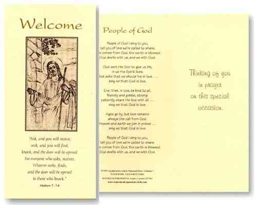 Reception Welcome Card