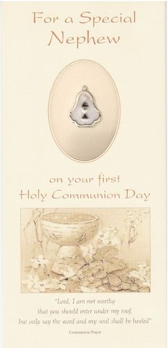 Personalised Communion Craft Card with Medal
