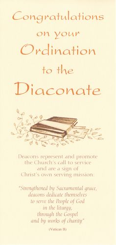 Ordination to Diaconate Card