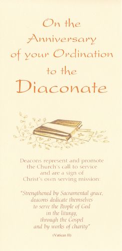 Anniversary of Diaconate Card