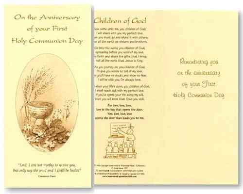 Communion Anniversary Card