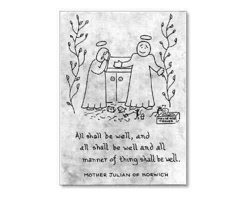Little Saints Notelet - All shall be well