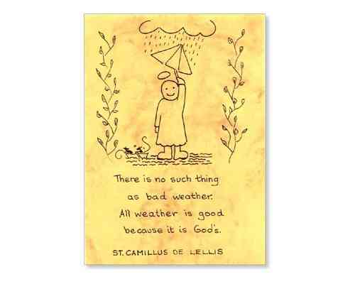 Little Saints Notelet - All Weather Good