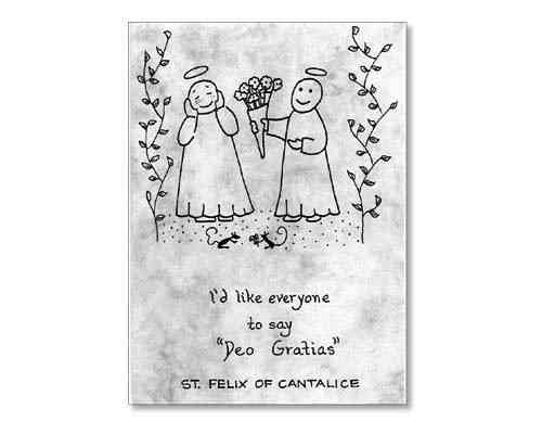 Little Saints Notelet - Deo Gratias