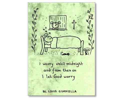 Little Saints Notelet - Don't Worry