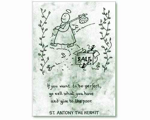 Little Saints Notelet - Sell Everything