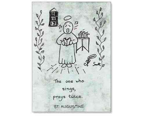 Little Saints Notelet - Singers