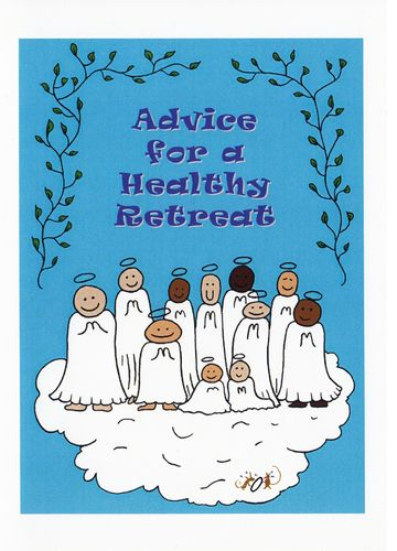 Little Saints Healthy Retreat Card