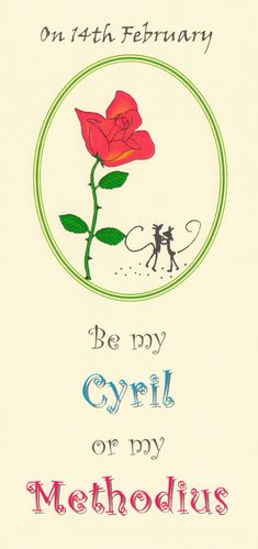 Alternative Valentine Card-St Cyril & Methodius