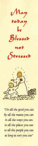 Blessed Not Stressed Bookmark