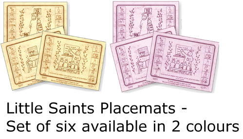 Little Saints (Mixed) Placemats (x 6)