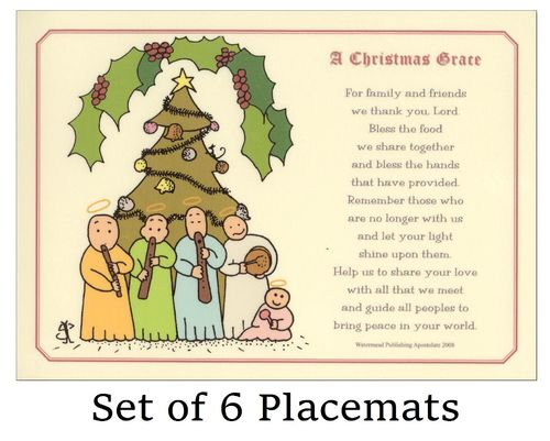 Little Saints (Band) Christmas Placemats (x 6)