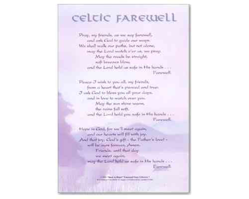 Celtic Farewell Lam'post