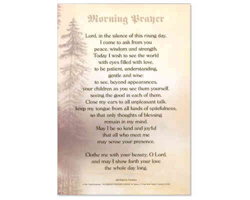 Morning Prayer Laminate