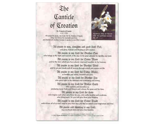 Canticle of Creation Laminate