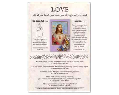 Love (Jesus) Laminate
