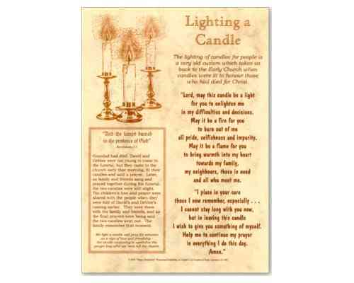 Light a Candle Laminate