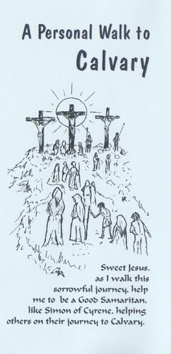 Stations of the Cross Card (Blue)