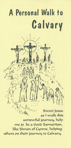 Stations of the Cross Card (Yellow)