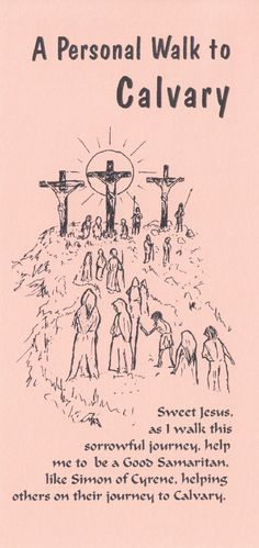 Stations of the Cross Card (Peach)