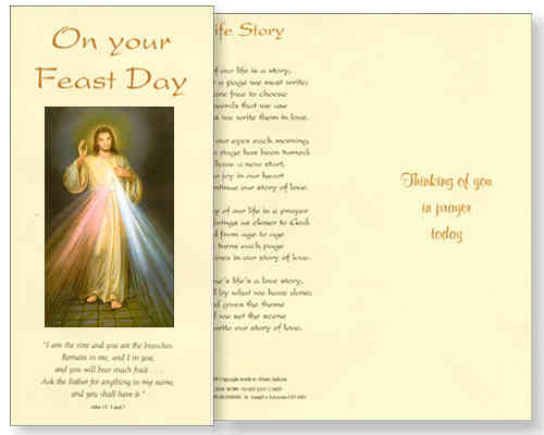 Divine Mercy Feast Day Card