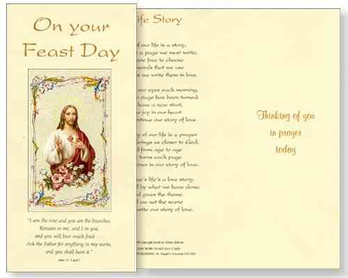Sacred Heart Feast Day Card