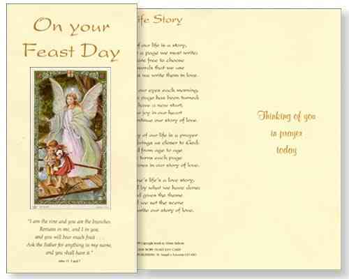Guardian Angel Feast Day Card