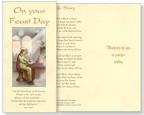 St Cecilia Feast Day Card
