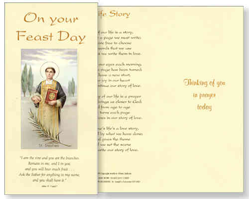 St Stephen Feast Day Card