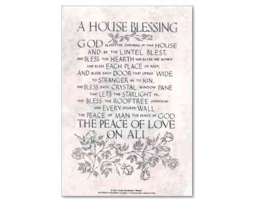 House Blessing - Laminate