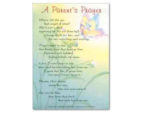 A Parents Prayer - Laminate