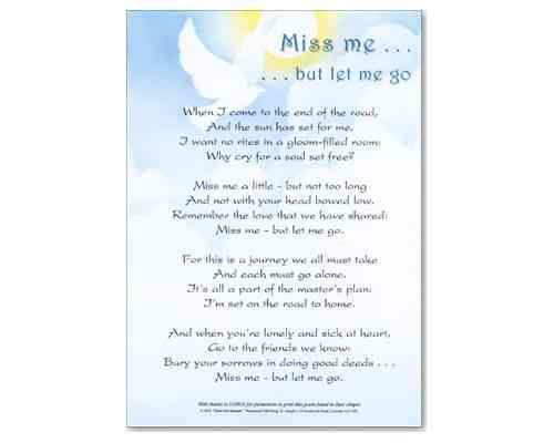 Miss Me But Let Me Go - Laminate