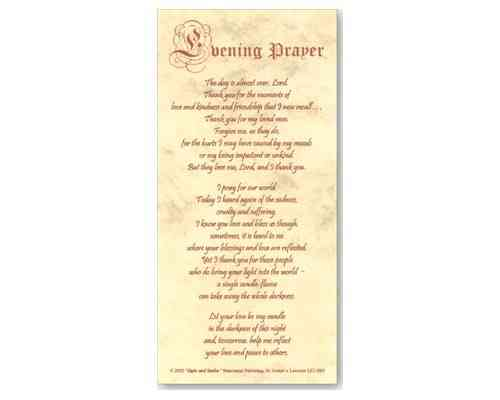 Evening Prayer - Smiles and Sighs Card