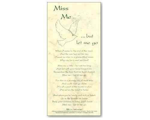 Miss Me But Let Me Go - Smiles and Sighs Card