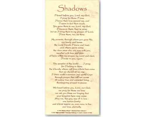 Shadows - Smiles and Sighs Card