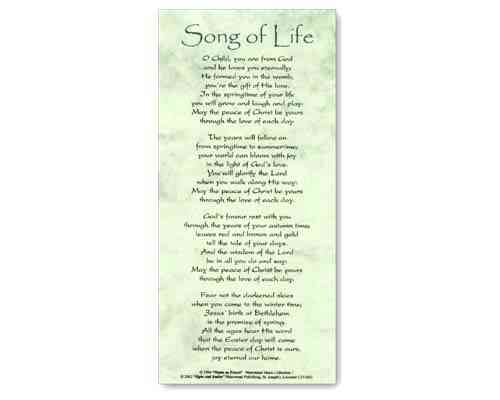 Song of Life - Smiles and Sighs Card