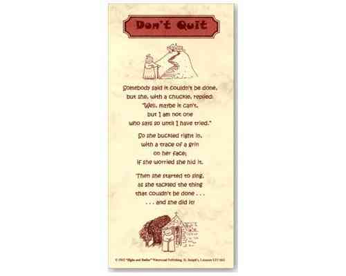 Don't Quit - Smiles and Sighs Card
