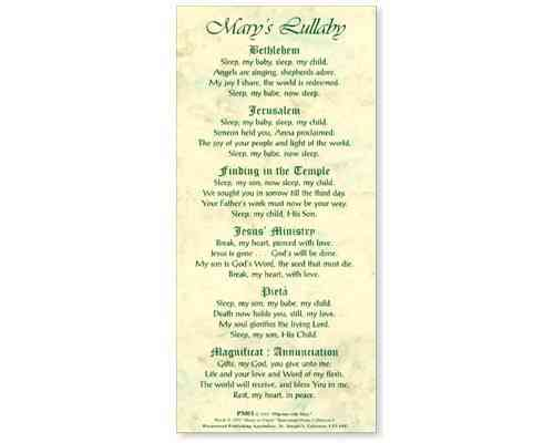 Mary's Lullaby Notecard