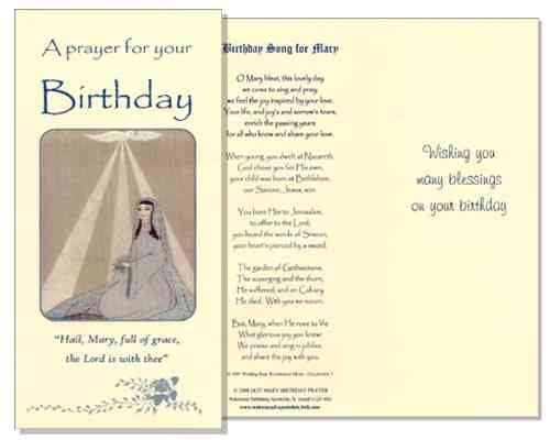 Birthday Card (Mary Prayer)