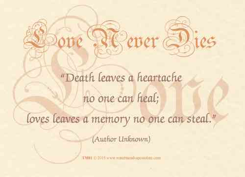 Love Never Dies Card - Heartache