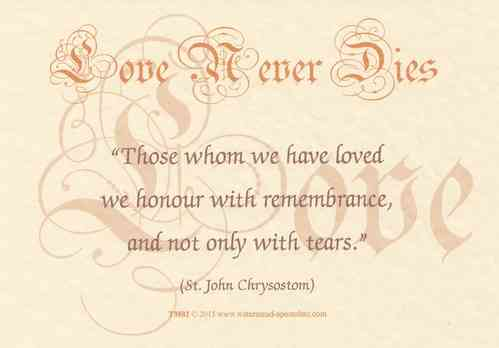 Love Never Dies Card - Remembrance